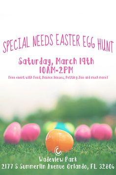 Special Needs Easter Egg Hunt! http://orlando.citymomsblog.com/special-needs-easter-egg-hunt/