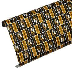 Missouri Tigers Spirit Block Wrapping Paper