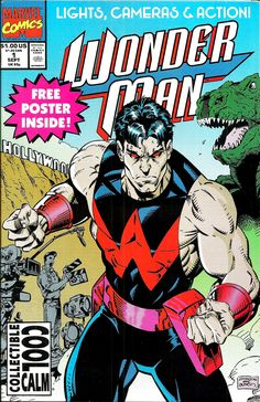 """Making it Big!"""" Written by Gerard Jones. Art and cover by Jeff Johnson and Terry Austin. Wonder Man's agent sets up a fight between the hero and Eric Josten, a.which is news to Simon. Includes a mock interview with Simon Williams Marvel Characters, Marvel Heroes, Marvel Comics, Young Avengers, New Avengers, Comic Book Grading, Secret Avengers, Wonder Man, New Warriors"""