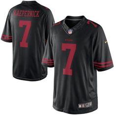 35c544d37d95 Men s 2015 Nike NFL San Francisco 49ers 7  Colin Kaepernick Black Alternate  Elite Jersey Justin