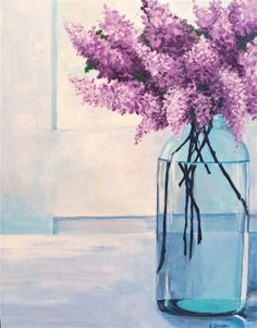 Hey, I found this really awesome Etsy listing at https://www.etsy.com/listing/175647590/original-fine-art-painting-lilac-bouquet
