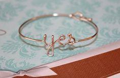 Dainty yes Bracelet by CREATIVEdesignbyTHAO on Etsy, $19.99