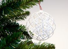 3D Printing Service i.materialise snowflakes christmas decorations Snowflake Christmas decoration