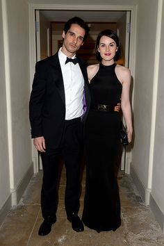 Michelle Dockery and the late, John Dineen