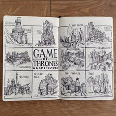 Do you know Harrenhal from Highgarden, or The Eyrie from Pyke?  Hopefully, these illustrations will help you understand which castle is which, although there aren't many of them left now!