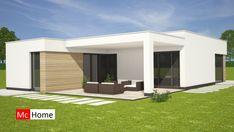 Modern Bungalow House Plans, Modern Bungalow Exterior, Modern Exterior House Designs, Best Modern House Design, Bungalow Homes, Minimalist House Design, Modern Architecture House, Bungalows, Flat Roof House Designs
