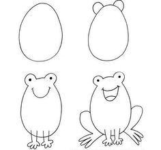 Easy kid drawing ideas how to draw easy animals step by step for kids easy kid . easy kid drawing ideas drawing ideas for kids step Drawing Lessons, Art Lessons, Drawing For Kids, Art For Kids, Drawing Ideas, Drawing Tutorials, Frog Drawing, Drawing Tips, Toddler Drawing