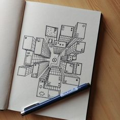 Drawing Journal, Drawing Lessons, Art Sketchbook, Sketching, Art Drawings Sketches, Doodle Drawings, Doodle Art, Architecture Concept Drawings, Architecture Art