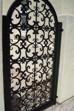 ITALIAN METAL GATE ON SALE DECORATIVE ORNAMENTAL CUSTOM IRON GARDEN  ENTRY ART