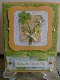 Happy St. Patrick's Day - Scrapbook.com. I created the embossing folder used in the background