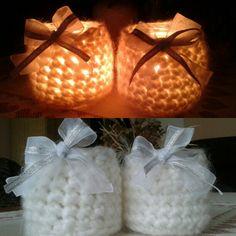 Photo by teacher_jass on Instagram  Crochet jars