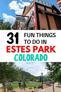 Fun things to do in Estes Park Colorado in Spring, Winter, Summer or Fall. From places to eat and where to stay in Estes Park, things to do with kids and how to get around, add this great Colorado destination to one of your bucket lists. Estes Park Colorado Cabins, Colorado Springs, Estes Park Camping, Estes Park Lodging, Winter Park Colorado, Road Trip To Colorado, Colorado Hiking, Colorado Waterfalls, Colorado Vacations
