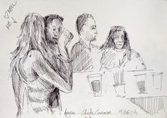 urban sketchers- line sketches of people in public places - Google Search