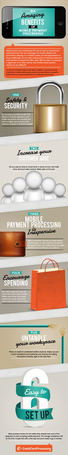 6 Benefits of Mobile Payment Processing - Infographic