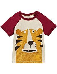 Buy Lion Zip Mouth Short Sleeve T-Shirt online today at Next: France Cute Outfits For Kids, Baby Boy Outfits, Cute Kids, Amazon Clothes, Boys Wear, Kids Prints, Baby Wearing, Boy Fashion, T Shirt
