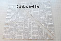 5 beautiful yards of bias tape that is! I discovered this method a few months back and it rocked my (small, fabric-centric) world. The way I always did it required cutting the first triangle off but then I was stuck...