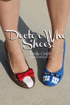 DIY Doctor Who Painted TARDIS heels by @fancydoodles: http://j.mp/15ed8km
