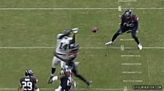 Texans' Danieal Manning botches interception.