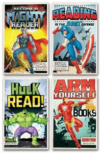 Avengers Mini Poster Set - New Products - Posters - Products for Children - Products for Young Adults - ALA Store  OOOH! If we get walls will we have some space to hang these?