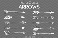 Hand Drawn Arrows Clip Art Vector - Illustrations - 1