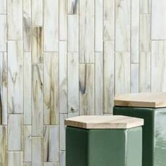 """Melay Glass Laguna 1"""" x 4"""" Glass Mosaic Tile & Reviews   Wayfair Bath Tiles, Glass Mosaic Tiles, Mosaic Wall, White Glass Tile, Glass Installation, Glass Material, Fireplace Surrounds, Color Tile, Outdoor Walls"""