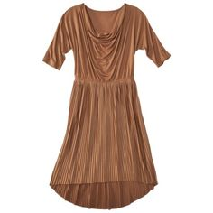 Mossimo® Women's Dolman Sleeve Pleated Dress with Cowl Neck - Assorted Colors