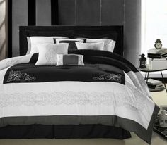florence-black-and-white-8-piece-comforter-set