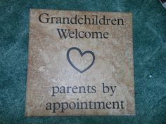 Grandchildren welcome, parents by appointment. Alot of grandparents loved this!!!