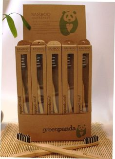 Biodegradable Toothbrush Packaging - The GreenPanda Bamboo Toothbrush Comes in a Plant-Based Package (GALLERY)