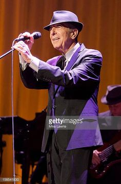 Musician Leonard Cohen performs at Madison Square Garden on December 18 2012 in New York City