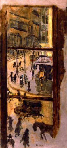 Through the Panes / Pierre Bonnard, 1910