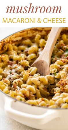 There's nothing more comforting than macaroni and cheese – this version has meaty mushrooms, bacon, and cavatappi pasta all baked up in a creamy gruyere cheese sauce, so if you're in need of some indulgent comfort food add this mushroom macaroni and cheese to your must-make list.