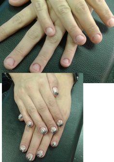 bitten nails black design french