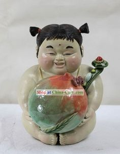 Chinese Shi Wan Figurine Statues Clay Statue Figurines Zhang Ceramics Ceramic Porcelain Page 2 Ceramic Manufacturer, Chinese Babies, Propaganda Art, Snow Globes, Porcelain, Pottery, Clay, China, Statue