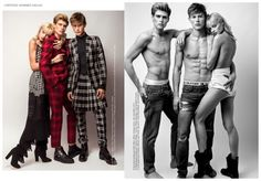 Gen Huismans & Paddy Mitchell Model Eclectic Fashion Styles for LOfficiel Hommes Hellas