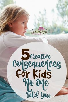 It's awesome when your family has boundaries in the house. You need them. Every happy home does. But boundaries mean nothing if consequences are not in place. Can't think of any effective consequences? Let's chat about five creative consequences for kids no one told you. Psst! One more disclaimer here for my mom friends. Consequences …