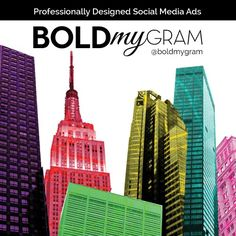 Why settle for lack luster advertising? BOLD YOUR GRAM! Follow us @BoldMyGram for more info! Social Media Ad, Advertising, Ads, Luster, Empire State Building, Travel, Design, Voyage, Viajes