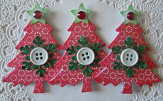 Christmas+Tree+EmbellishmentsSet+Of+3Red+Circles+by+sarasscrappin,+$3.49