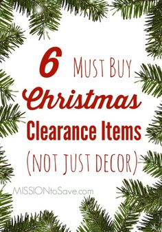 Check out my list of 6 Must Buy Christmas Clearance Items.  Not just for decoration!  Thrifty (and creative) thinking helps you save on celebrations throughout the year with these clearance items.