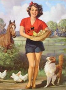 Farm Girl Pin Up