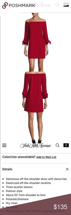 NEW Tibi Structured Off-the-Shoulder Crepe Dress New with tags. Color is Crimson Red. Size is 0. It will probably fit up to a size 2 (it fit me when I tried on and I'm typically size 2). Fabric feels luxurious. Tibi Dresses Mini