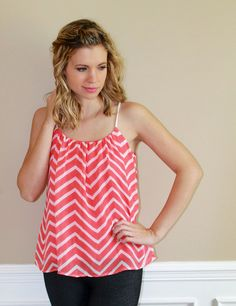 chevron, white, coral, top, dressy, cute, date night, girls night, summer, style, beach, ootd, lotd, fashion, boutique, styling, inspiration, online
