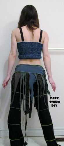 Woodland Tattered Pixie Wrap Skirt DIY Faerie Hippie Clothing Handmade Gypsy