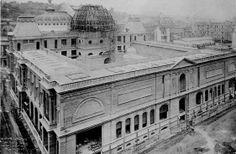 Construção da Escola Nacional de Belas Artes (atual Museu Nacional de Belas Artes), Centro. Rio de Janeiro, 1908.