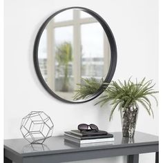 This decorative round wood mirror is a beautifully unique accent piece for your home decor. Hang this mirror above a fireplace, over a sofa, or above your bedroom headboard for a stunning wall accent. This mirror makes a beautiful vanity mirror. Round Wood Mirror, Black Wall Mirror, Wall Mounted Mirror, Round Mirrors, Wall Mirrors, Mirror Bed, Beveled Mirror, Mdf Frame, Wood Floating Shelves