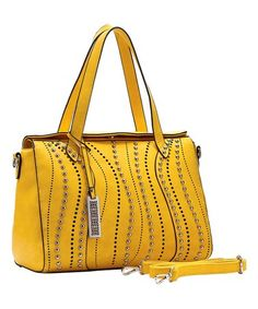 A textured front and smooth, supple back lend visual depth to this handbag, made with an ample interior that allows you to bring along your essentials and more. Note: Alternate image is for reference and does not reflect actual color of this product. Line Texture, Yellow Purses, Gym Bag, Satchel, Bags, Color, Essentials, Smooth, Note