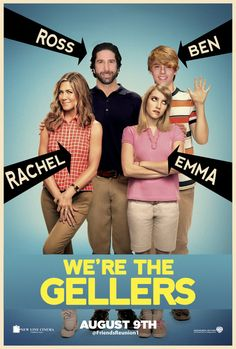 We're the Millers Directed by Rawson Marshall Thurber. With Jason Sudeikis, Jennifer Aniston, Emma Roberts, Ed Helms. A veteran pot dealer creates a fake family as part of his plan to move a huge shipment of weed into the U. from Mexico. Friends Episodes, Friends Cast, Friends Moments, Friends Tv Show, Funny Movies, Comedy Movies, Great Movies, Funniest Movies, Awesome Movies