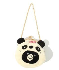 secretly panda bear pouch / franche lippee of (Furanshuri~tsu Bae) bear pouch / Yeti pouch (pouch)   White