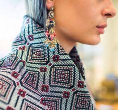 Textile texture pattern jacket