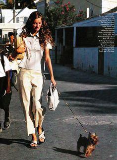 Vogue US April 1999 Gisele Bundchen by Arthur Elgort